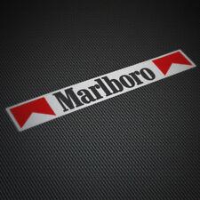 (2x) MARLBORO Sticker Vinyl Decal Cigarettes Racing Team GP Race Formula Bike GP