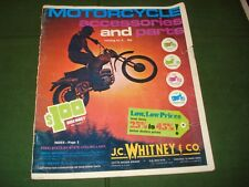 VINTAGE 1974 JC WHITNEY MOTORCYCLE PARTS And ACCESSORIES BROCHURE -40 PAGES.