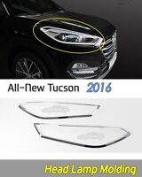 Head Lamp Molding Chrome Garnish Silver EMS K-973 for Hyundai Tucson 2016~2018