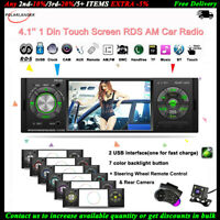 4.1''1 Din Autoradio Touch Screen FM RDS MP5 Lettore AM Stereo 2USB BT +SWC+CAM
