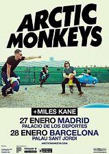 ARCTIC MONKEYS 2012 MADRID BARCELONA CONCERT TOUR POSTER - Indie Rock Music