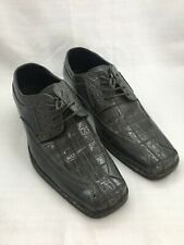 Bolano Mens Exotic Faux Oxford Dress Shoe in Gray Size 8