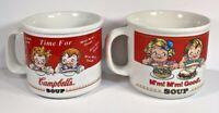 Vintage Set of 2 Campbells Soup Kids Westwood International Harvest Gifts Mugs