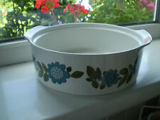 J & G Meakin Topic Tureen Blue Floral Green Leaves British 1970 s No Lid
