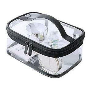 Clear Travel Makeup Bag, Heavy Duty Toiletry Bag Zipper Waterproof Transparent