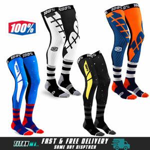 100% REV Knee Brace MX Socks Motocross Enduro Performance Long Socks Adult