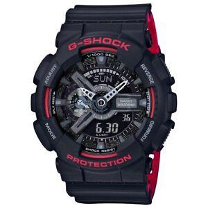 Casio G-Shock Mens Watch GA110HR-1A GA-110HR-1ADR Digital-Analog Black Red