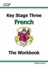 KS3 French Workbook with Answers by CGP Books (Paperback, 2002) NEW