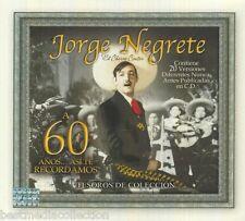 SEALED Jorge Negrete CD DVD Tesoros De Coleccion 60 Exitos ASI TE RECORDAMOS