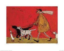 DOG ART PRINT Walkies Sam Toft