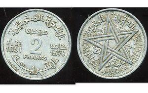 MAROC 2 francs 1951  ( bis )