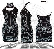 DANE Wireframe Slash halter dress Cyber Goth clubwear podium bodycon UV