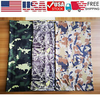 3pcs Camo Neck Gaiter Balaclava Bandana Head Tube Scarf Half Face Mask Reusable