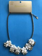 BNWT Accessorize Statement Necklace - Flowers, Shell, Crystal