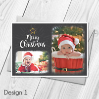 Personalised Christmas Postcard Cards & Thank You Cards Notes With Photo