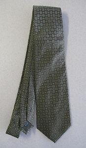 Men's Tie Banana Republic Olive green Geometrical dots silk