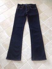 RALPH LAUREN SPORT Women's Tribeca 114 Straight JEANS, Dark Blue, Excellent
