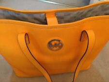 Michael Kors Orange Leather Handbag - Excellent - On Trend