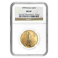 1999 1/2 oz $25 Gold American Eagle NGC MS 69