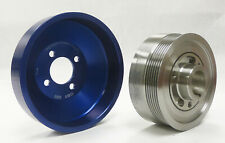 OBX-R Anodized Blue Underdrive Pulley Kit For 05-10 Mustang V8 GT 4.6L 3V (2pcs)