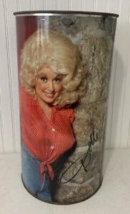 Vintage Dolly Parton Metal Trash Can P&K Co. 1978