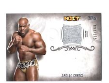 WWE Apollo Crews 2016 Topps Undisputed Event Worn Shirt Relic Card SN 3 of 175