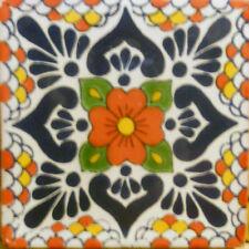 C#117) Mexican Tile Sample Wall Floor Talavera Mexico Ceramic Handmade Pottery