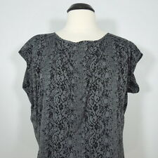 CONVERSE ONE STAR Printed Blouse with Crease Fabric on Shoulders size L
