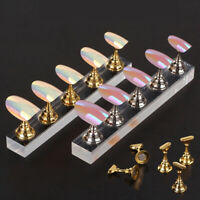 New Magnetic Acrylic Manicure Tools Nail Practice Hand Nail Exercises Pedes W4Z4