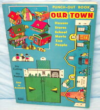 Out Town Punch-Out Book Paper Toy Unused Mint 1961 NR