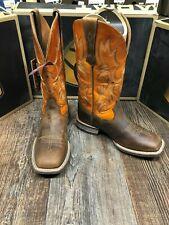 Mens Tombstone Artiat Wester Square Toe Boot Distressed Brown/Sunnyside Orange
