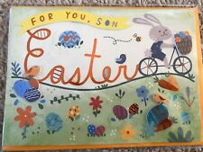 """NIP Papyrus Greeting Card Happy Easter """"Son"""" New $5.95"""