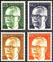 BRD (BR.Deutschland) 689-692 (kompl.Ausg.) gestempelt 1971 Gustav Heinemann