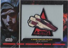 STAR WARS GALACTIC FILES SERIES 1 PR-15 EMBROIDERED PATCH A-WING FIGHTER PILOT
