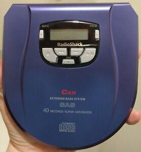 2001 Radio Shack Portable Car Cd Player 46-6020 Single Disc TESTED Works