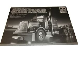 "Tamiya Grand Hauler ""BLACK"" 1/14 Semi Truck Owners Manual / Exploded Views"