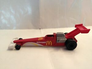 McDonalds Happy Meal 1993 Hot Wheels #7 Dragster red white