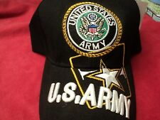 "Cap King  "" United States  Army "" Baseball Cap Black with lettering"