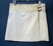 Ralph Lauren Golf White Skirt w/ Lamb Leather Waistband & side buckles Size 10