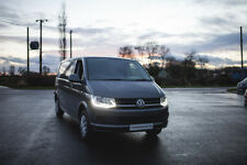 Vw T6 Transporter CHROME LED DRL Headlights, with looms Headlamps, Lights, LED
