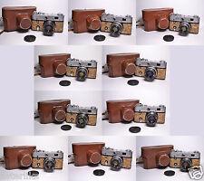 10 x FED 3 Cork body Soviet / Russian 35mm Rangefinder Camera