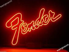 New American Fender Electric Bass Guitar Beer Bar Real Neon Light Sign Free Ship
