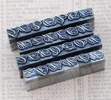 Alphabet Bleilettern Vintage Siegel Buchstaben Siegelstempel imprimerie plomb