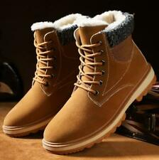 Men's High Top Fur Lining Snow Boots Warm Lace Up Worker Shoes Sneakers Winter