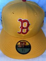 7 1/2 Boston Red Sox Yellow 1999 Allstar Game Pink Bottom Fitted Hat