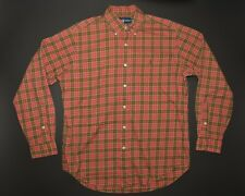 Ralph Lauren Vintage Button Down Mens Medium Classic Fit Red & Green Plaid