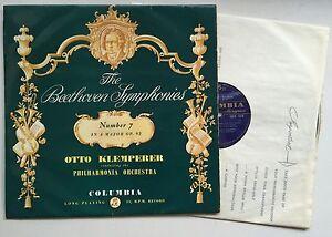 "OTTO KLEMPERER BEETHOVEN Symphony No 3 ""Eroica"" U.K. COlumbia 33CX 1346 EX/VG++"