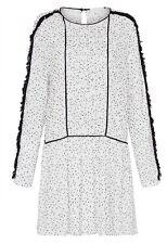 $520 SASS & BIDE Feel It All Around Drop Waist Flock Dress - Sz 6 (M Medium)