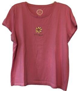 LIFE IS GOOD T-Shirt Women's XL Hot Pink