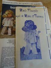 T17 PATRON POUPEE M.FRANCOISE MODES & TRAVAUX PYJAMA EN LIMON SEPTEMBRE 1976